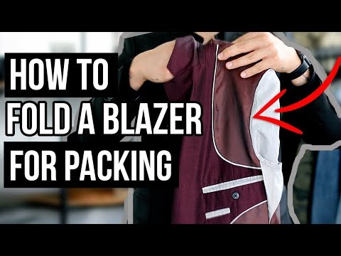 3 WAYS TO FOLD A BLAZER FOR PACKING! NO WRINKLES or CREASES!  | JAIRWOO