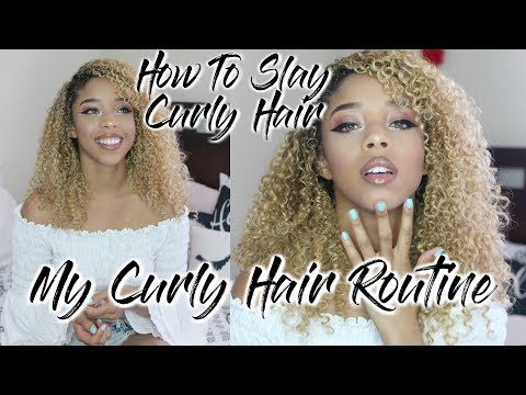 My CURLY HAIR ROUTINE for Curly Blonde Hair ♡ | LeSweetpea
