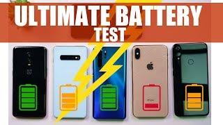 Huawei P30 Pro, Redmi Note 7 Pro, Galaxy S10 Plus, iPhone XS Max, Oneplus 6T: MEGA BATTERY TEST!