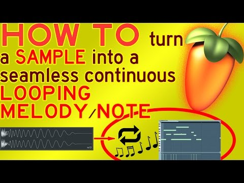 HOW TO make a SAMPLE play like an INFINITE CONTINUOUS NOTE (like JAKE PAUL) FL Studio 12