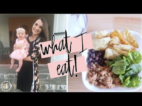 WHAT I EAT IN A DAY | Breastfeeding Mom of 3! | Natalie Bennett