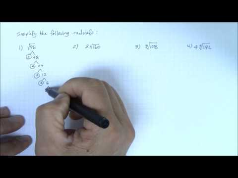 Simplify Radical Expressions Part 1