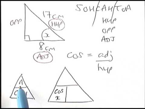 Trig finding angles 1