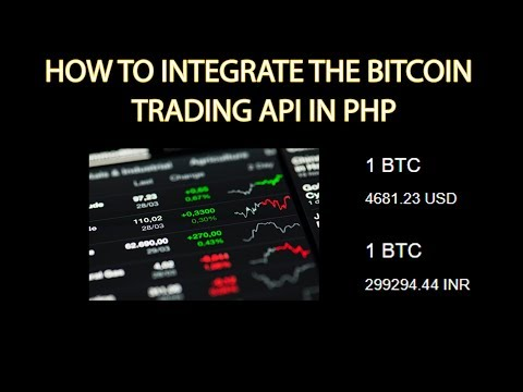 How to integrate the bitcoin trading api in php