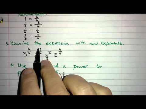 5.2.4 - Translating Rational Exponents to Radicals