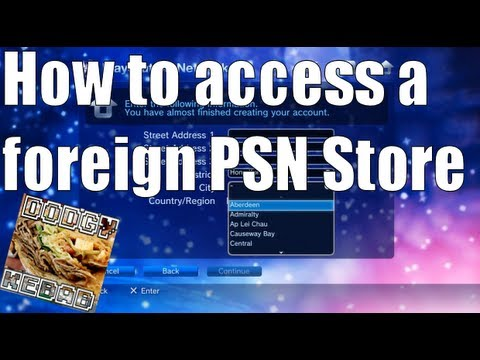 How to download from USA / Japanese PSN Store
