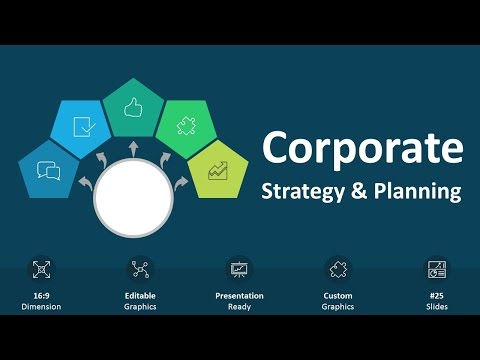 Corporate Strategy and Planning Editable PowerPoint