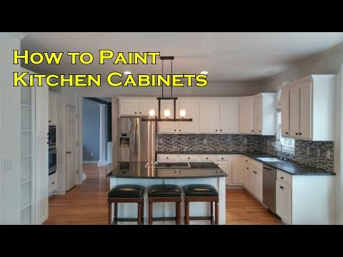 How to Paint Kitchen Cabinets with a Sprayer not a Brush and Roller  - OurHouse DIY