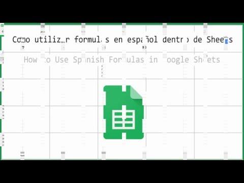 Como Utilizar Fórmulas En Español En Sheets