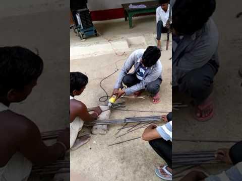 Cutting of iron rod
