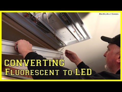 How To Convert A Fluorescent  Light Fixture To LED