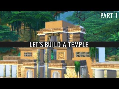 The Sims 4 - LET'S BUILD A TEMPLE - Part 1