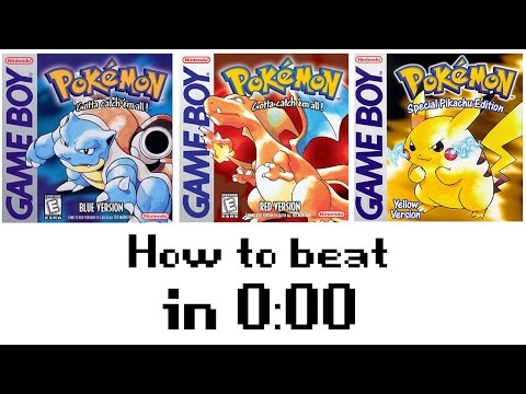 How to beat Pokemon Red/Blue/Yellow in 0:00 - Glitchfest