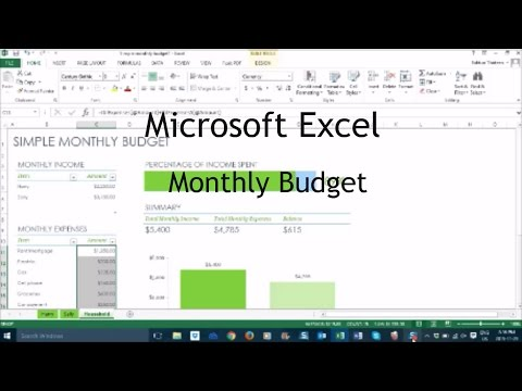 How to Make a Monthly Budget in Excel - Tutorial