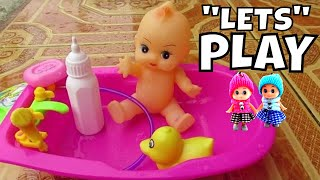 Lifia Niala Mainan Anak Boneka Bayi Mandi Boneka Bebek ❤ Baby doll bath time with Duck