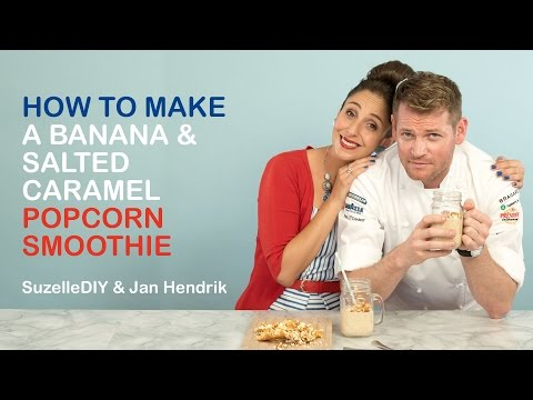 How to Make a Banana & Salted Caramel Popcorn Smoothie (featuring Jan Hendrik)