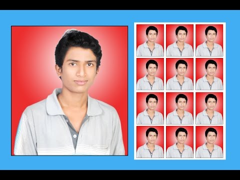 How To Create A Photoshop Passport Size Photo Background Chang Kya Kre Kaise Banaye hindi Me Jane