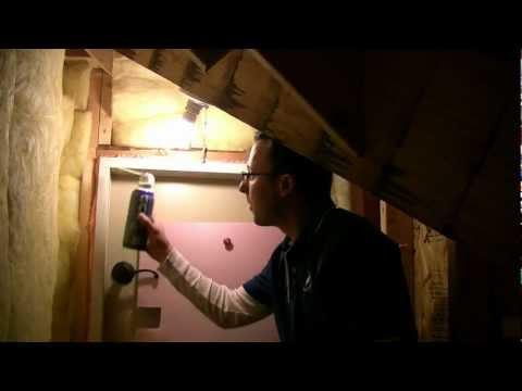 How to stop drafts around attic doors?