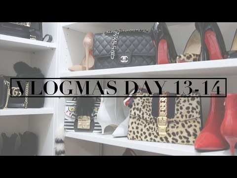 VLOGMAS DAY 13-14 | Accessories Closet Tour | Cardi B Peformance