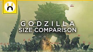 Godzilla Earth Largest Godzilla in History! | Godzilla Size Comparisons