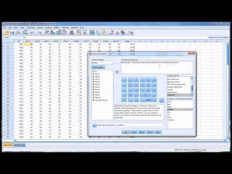 Computing Variables in SPSS to Measure Central Tendency