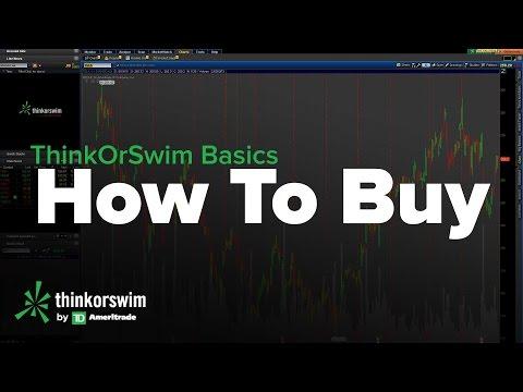 ThinkOrSwim Basics Tutorial - How to Buy Stocks