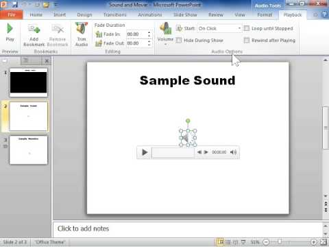 PowerPoint 2010 Loop a Sound