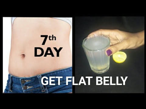How to reduce belly fat within a month//get flat stomach