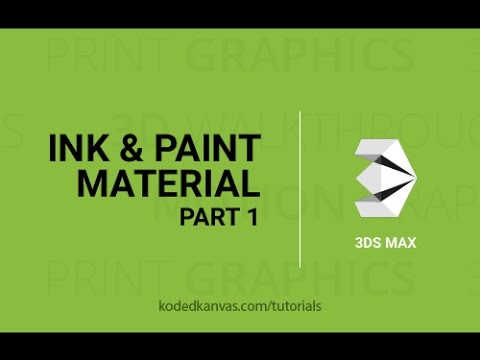 Rendering 2D in 3ds Max | Ink and Paint material in 3ds Max (Part-1) Tutorials