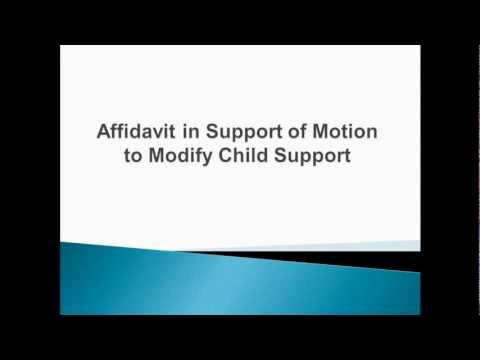 Chapter 3 - Affidavit in Support of Motion to Modify Child Support