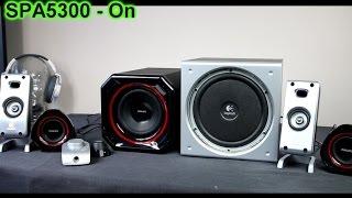 Logitech Z323 subwoofer excursion bass sound test - PakVim net HD