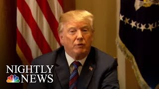 President Donald Trump Meets With Top Advisers On Syria Action | NBC Nightly News