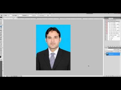 How to make Passport Size Photos with Serial Number and Professional Logo in Adobe PhotoShop CS5