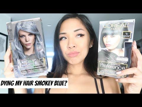 Dying My Hair Smokey Blue?! Loreal Paris Feria Smokey Pastels