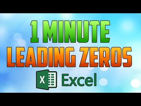 Excel 2016 : How to Add Leading 0 Before Numbers