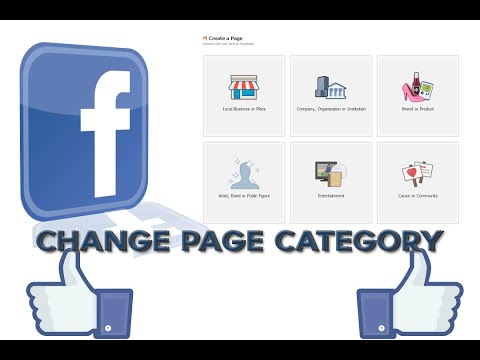 Facebook - How to change Page Category