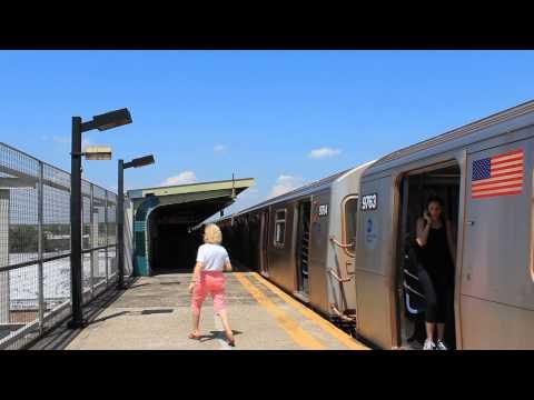 IND Subway: Coney Island Bound R160 (F) Train at Avenue N