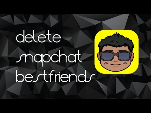 Snapchat Tutorial: How to Remove Snapchat Best Friends (UPDATED 2017)