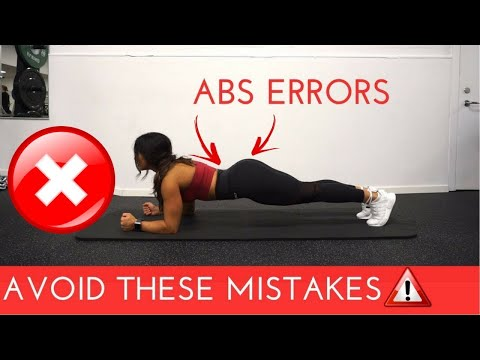 6 COMMON GYM MISTAKES FOR ABS TRAINING | AVOID THESE ERRORS!