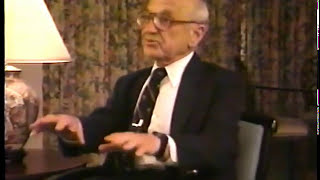 Milton Friedman Interview Drug Policy In America 1/2