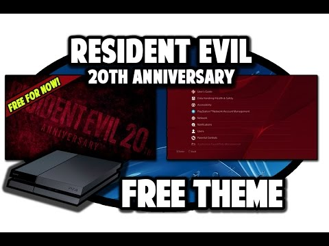 [PS4 THEMES] Resident Evil 20th Anniversary Theme Video in 60FPS