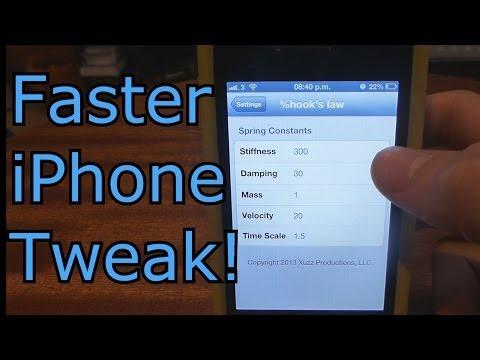 Faster iPhone Tweak! Hook's Law