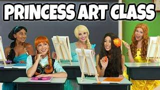 DISNEY PRINCESS ART CLASS. (We play Moana, Belle, Jasmine, Elsa and Anna) Totally TV
