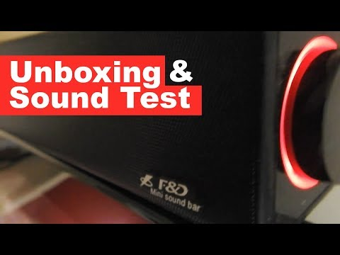 F&D E200 Mini | Incredible Best Budget Sound Bar | Unboxing and Sound Quality Test