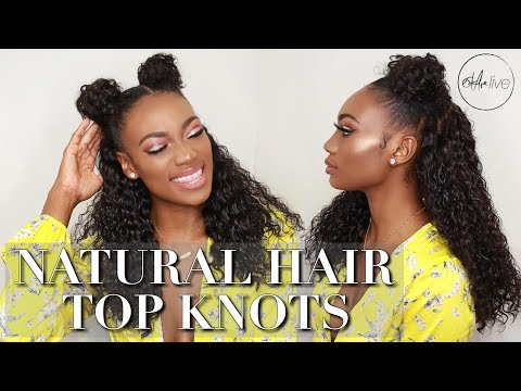 HAIR | NATURAL HAIR TOP KNOTS! • BACK TO SCHOOL HAIR (INCLUDING A WIG)