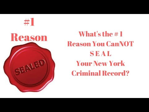The Number One Reason Your Old New York Criminal Convictions Won't Be Sealed