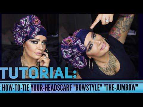 Headscarf Tutorial: BOW STYLE | ALOPECIA | How To Tie A Headscarf
