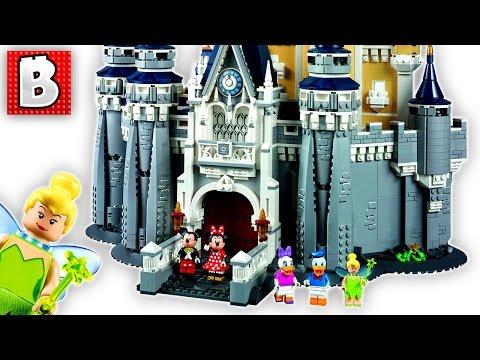 Lego Disney Castle Set 71040   Unbox Build Time Lapse Review