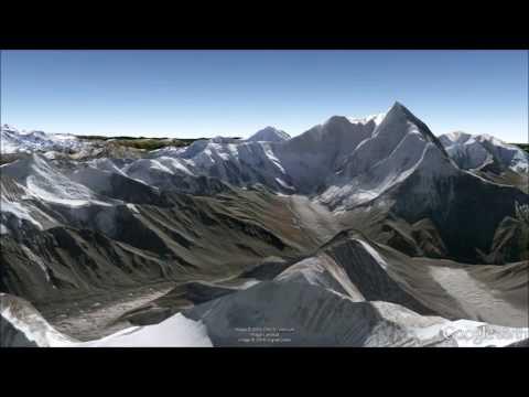 Nanda Devi National Park, Himalayas: Fly-Through Tour #2 in Google Earth