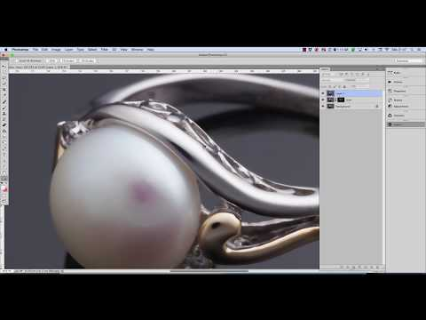 Jewelry retouching tutorial: how to polish and clean glossy metal